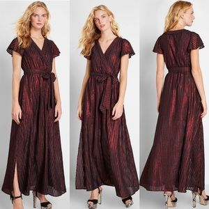 Modcloth Red Your Time To Shine Maxi Dress NWT
